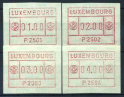 Luxembourg 1983 Mi. 1 Neuf ** 100% ATM, 2501-2504 - Frankeervignetten