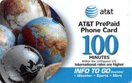 AT&T PrePaid Phone Card 100 Minutes - AT&T