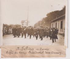 M FALLIÈRES EN SAVOIE DÉFILÉ DU CORTÈGE PRÉSIDENTIEL DANS ANNECY 18*13CM Maurice-Louis BRANGER PARÍS (1874-1950) - Photographs