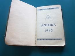 MINI  AGENDA DE 1943 WW2 QQ ANNOTATIONS VOIR SCANNS -Autres Collections  Bureau (objets Liés)  Autres - Autres Collections