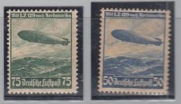 DR  606-607, Postfrisch */**, Flugpost, Zeppelin 1936 - Allemagne