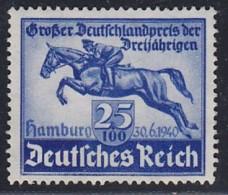 DR  746, Postfrisch **, Deutsches Derby 1940 - Duitsland