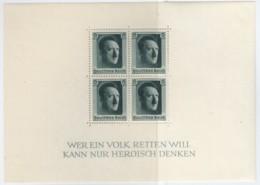 DR  Block 7, Postfrisch **, 48. Geburtstag AHs, 1937 - Blokken