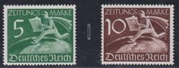 DR  Z 738-739, Postfrisch **, Zeitungsmarke 1939 - Neufs