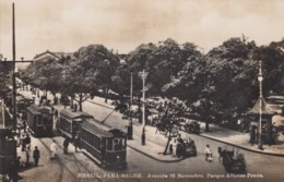 Para-Belem Brazil, Avenida 16 Novembro Parque Affonso Penna, Street Car, Street Scene C1910s/20s Vintage Postcard - Belém