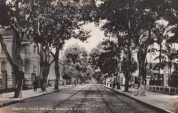Para-Belem Brazil, Avenida S. Jeronymo, Street Car Tracks, Street Scene C1910s/20s Vintage Postcard - Belém