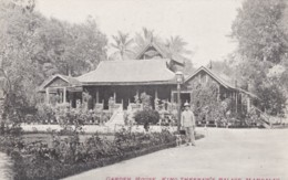 Mandalay British Colonial Era Burma, Garden House, King Theebaw's Palace C1900s Vintage Postcard - Myanmar (Burma)