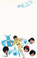'ZBA' Artist Image Japanese Cartoon Characters Hero Villian, Space Theme, C1970s/80s Vintage Postcard - Japan