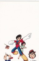 'ZBA' Artist Image Japanese Cartoon Characters Hero With Girl And Squirrel, C1970s/80s Vintage Postcard - Japan