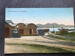 Postcard Ferrocarril In Managua , Circulated In Corinto In 1925 - Nicaragua