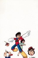 'ZBA' Artist Image Japanese Cartoon Characters Hero With Girl And Others, C1970s/80s Vintage Postcard - Japan