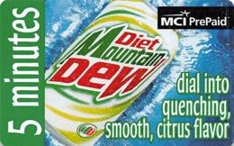 Mountain Dew / MCI PrePaid Phone Card 5 Minutes - Reclame