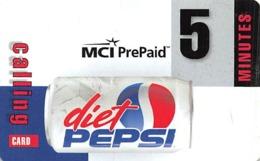 Diet Pepsi / MCI PrePaid Phone Card 5 Minutes - Reclame
