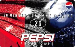 Pepsi / WorldCom PrePaid Phone Card 20 Minutes - Advertising