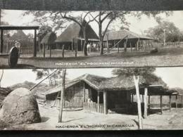 Postcard Hacienda El Progreso And Hacienda El Horno, Circulated In 1918 - Nicaragua