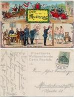 AK Gruß Von Der Musterung Litho. 1913, Von Lehrte Nach Münchenbernsdorf Gelaufen - Humor