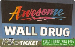 Wall Drug Store Express Phone Ticket - Advertising