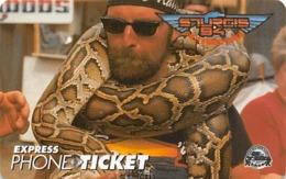 Sturgis 1994 Motocycle Rally Express Phone Ticket - Motorfietsen