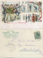 AK Gruß Von Der Musterung Litho. 1903, Von Seesen Nach Münchehof Harz Gelaufen - Humor