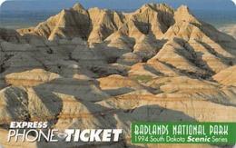 Badlands National Park USA / Express Phone Ticket - Landscapes