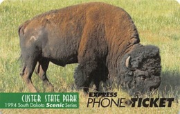 Custer State Park Wild Buffalo USA / Express Phone Ticket - Telefoonkaarten