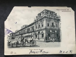 Postcard Managua Circulated 1904, Corner Damaged - Nicaragua