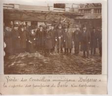 CONSEILLERS MUNICIPAUX BULGARES CASERNE  DES POMPIERS PARIS RUE CARPEAUX 18*13CM Maurice-Louis BRANGER PARÍS (1874-1950) - Profesiones