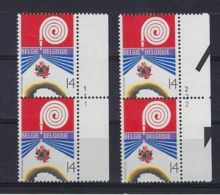 N°2443 (pltn°set) MNH ** POSTFRIS ZONDER SCHARNIER SUPERBE - Plate Numbers