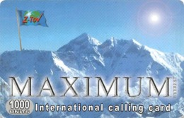 Maximum International Calling Card - Landscapes