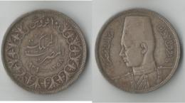 EGYPTE 10 PIASTRES 1358 / 1939 ARGENT - Egypte