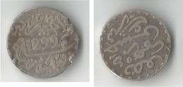 MAROC 1/2 DIRHAM 1299 ARGENT - Maroc