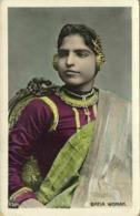 Bhutan, Native Bhutia Batia Woman, Jewelry Necklace (1910s) Postcard - Butan