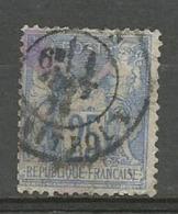 1876 – N°68 Oblitéré - 25 C.outremer - SAGE TYPE I - Voir Image - Cachet Gras - 1876-1878 Sage (Type I)