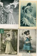 FEMMES Au CHAPEAU  - LOT De 12 CARTES  - - Mujeres
