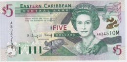 East Caribbean States - Montserrat 5 Dollars (M) (2000) UNC - East Carribeans