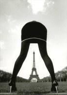 Funny & SEXY Long Legs Woman Erotic Butt GIRL Suggestive Eiffel Tower Postcard - 2655 - Tour Eiffel