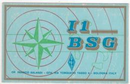 °°° 14030 - QSL - I1 BSG BOLOGNA 1971 °°° - Radio Amatoriale