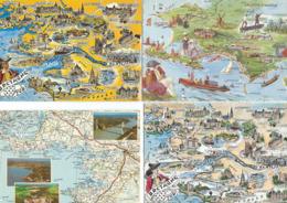 LOT DE 3 CARTES GEOGRAPHIQUES. Belle Ile En Mer Bretagne Sud Côte D'Amour De Jade - Cartes Géographiques