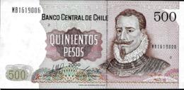 CHILE 500 PESOS , AÑO 2000, UNC - Chili