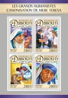 Djibouti  2016  Mother Teresa, Ronald Reagan And Nancy Reagan - Djibouti (1977-...)
