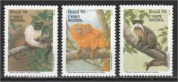 Brazil - 1994 - ( Monkeys ) - Complete Set - MNH (**) - Brazilië
