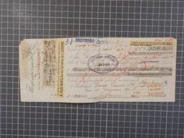 Cx 9) Portugal Suisse Lettre De Change Banco Nacional Ultramarino 1920 M. Jules Mange - Cheques & Traverler's Cheques