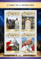 Djibouti  2016  Pope Francis ,; Pope Benedict XVI - Djibouti (1977-...)