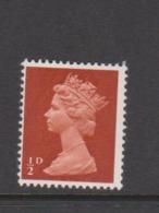 Great Britain SG 723 1968Decimal Machin Half Pence Orange-brown,mint Never Hinged - Used Stamps