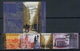 Croatie (Hrvatska) 1994 Mi. 299-302, Bl. 10 Neuf ** 100% Zagreb - Kroatië