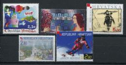 Croatie (Hrvatska) 2000 Mi. 563,565-568 Neuf ** 100% Culture De La Célébrité, Sport - Croacia