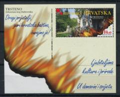 Croatie (Hrvatska) 2001 Mi. Bl.19 Bloc Feuillet 100% Neuf ** Trsteno - Kroatië
