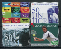 Croatie (Hrvatska) 2001 Mi. 578-581 Neuf ** 100% Espéranto, Tennis, HCR - Kroatië