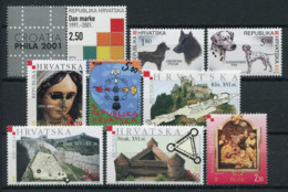 Croatie (Hrvatska) 2001 Mi. 582-590 Neuf ** 100% La Culture, Des Chiens, Des Tours, Noël - Croacia