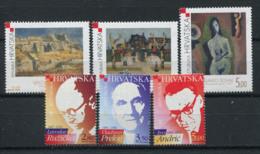 Croatie (Hrvatska) 2001 Mi. 591-596 Neuf ** 100% Art, Prix Nobel - Kroatië